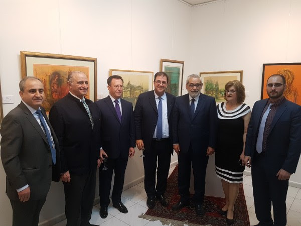 From left to right: Dr. Movses Hergelian (Owner and Director of Noah's Ark), Cambyse Behnia (Managing Director of Khak-e-Mosalah, and guest of the French Embassy), H.E. Mr. Samvel Mkrtchyan, Ambassador of the Republic of Armenia, H.E. Mr. Bruno Foucher, Ambassador of the French Republic, H.E. Mr. Hagop Pakradounian, MP and head of the Armenian bloc in the Lebanese parliament, Elo Sarajian-Hergelian (Admin Director and Media Representative of Noah's Ark), Herag Hergelian (Noah's Ark Contact in North America).