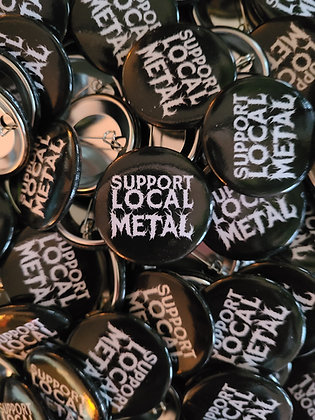 Support Local Metal Button