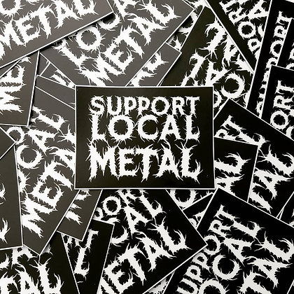 Support Local Metal Sticker