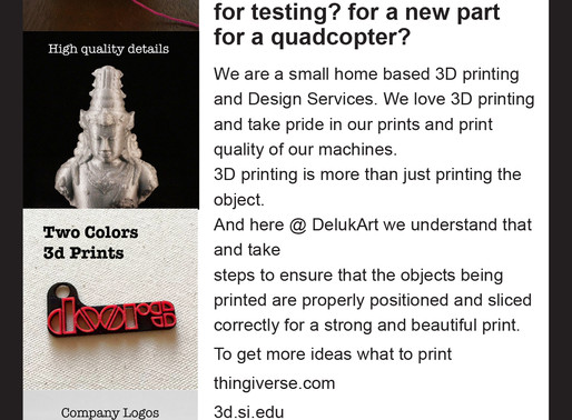 Need a physical prototype for testing? for a new part for a quadcopter?