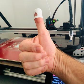 Great Idea! 3d printed finger cap
