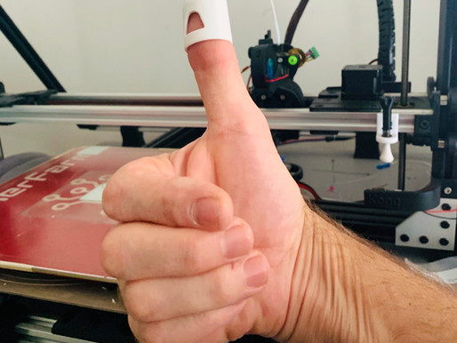 Great Idea! 3d printed finger cap