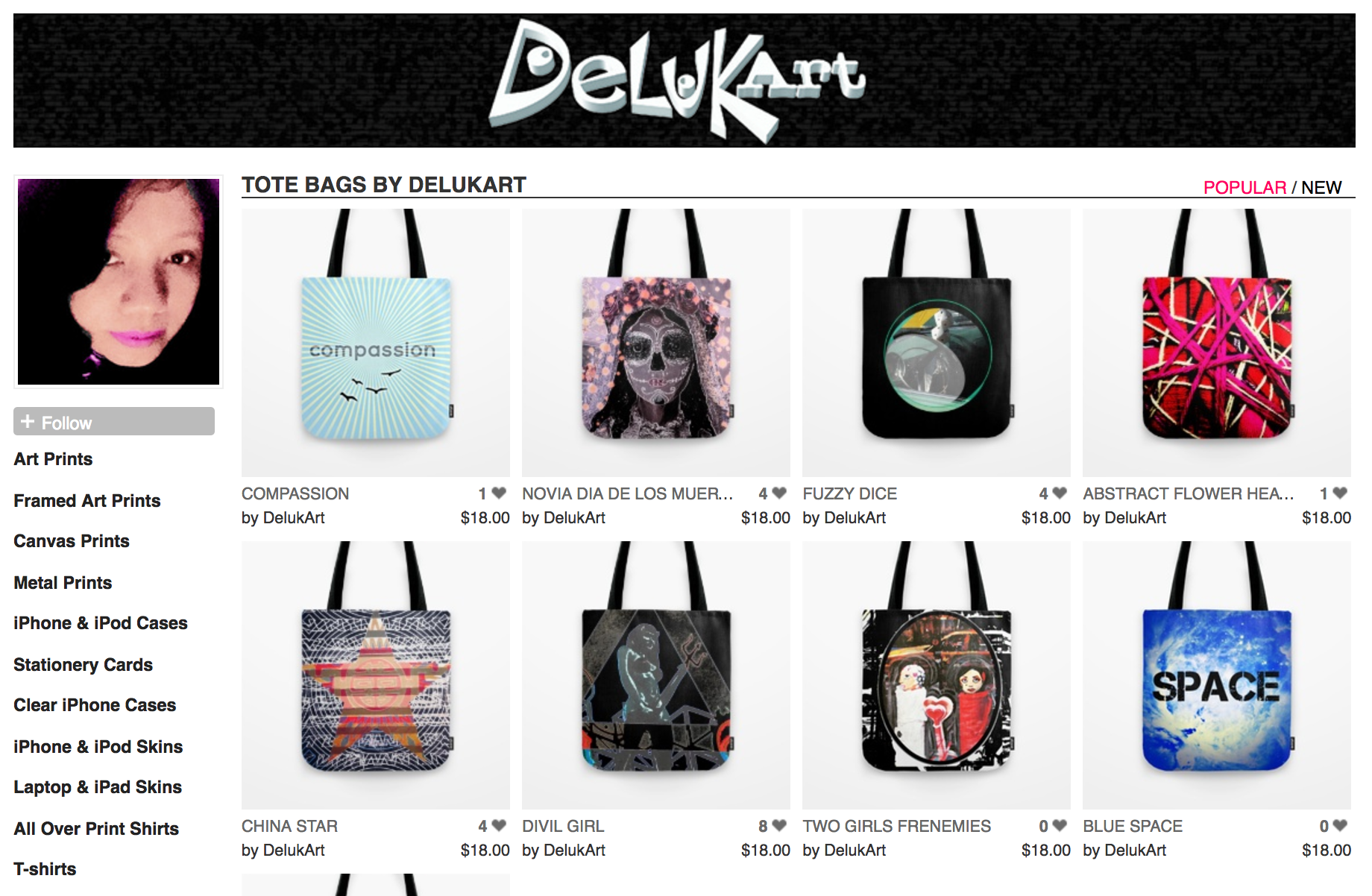 Delukart Society6 Shop