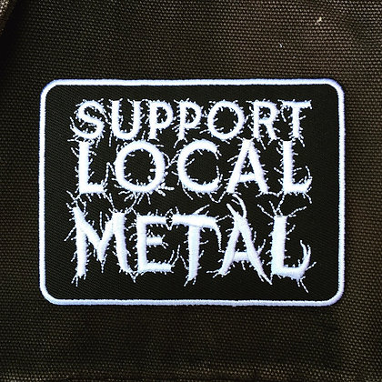 Support Local Metal Patch