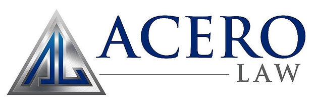 Logo sign for George Acero's employment law firm in Sacramento, CA