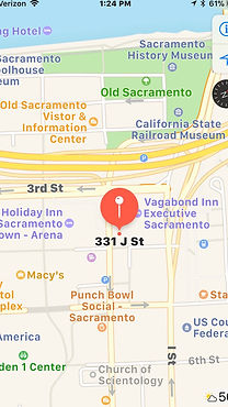 Map of location of George Acero's Sacramento employment law office.