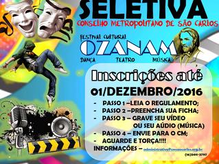 Regulamento da Seletiva do Cm São Carlos e  Região IV do Festival Cultural Ozanam 2017
