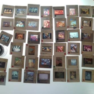 Painting Slides; Slide Paintings