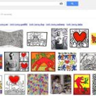 Keith Haring Google Portrait