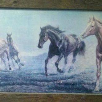 A painting in a truckstop in Utah