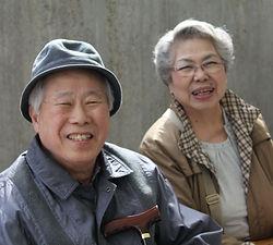 笑顔 老人 高齢者 介護 おでかけ