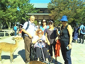 Wheelchair Accessible Travel in Nara wit
