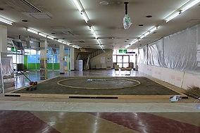 Grand Sumo Tournament Osaka Tagonoura Stable Dohyou Ring