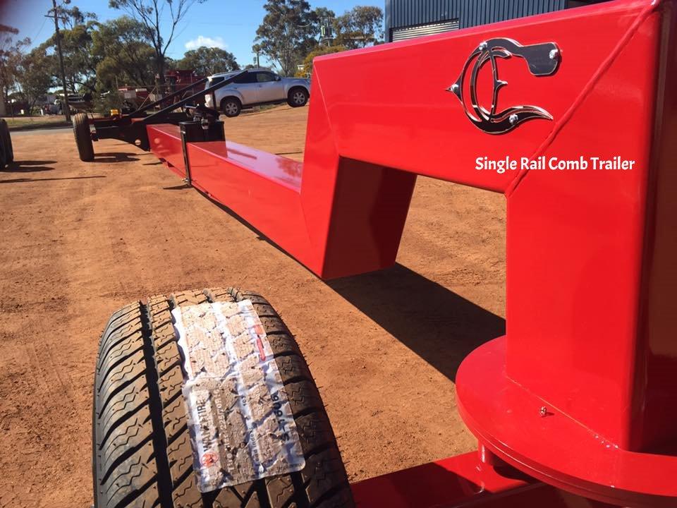 single rail comb trailer red