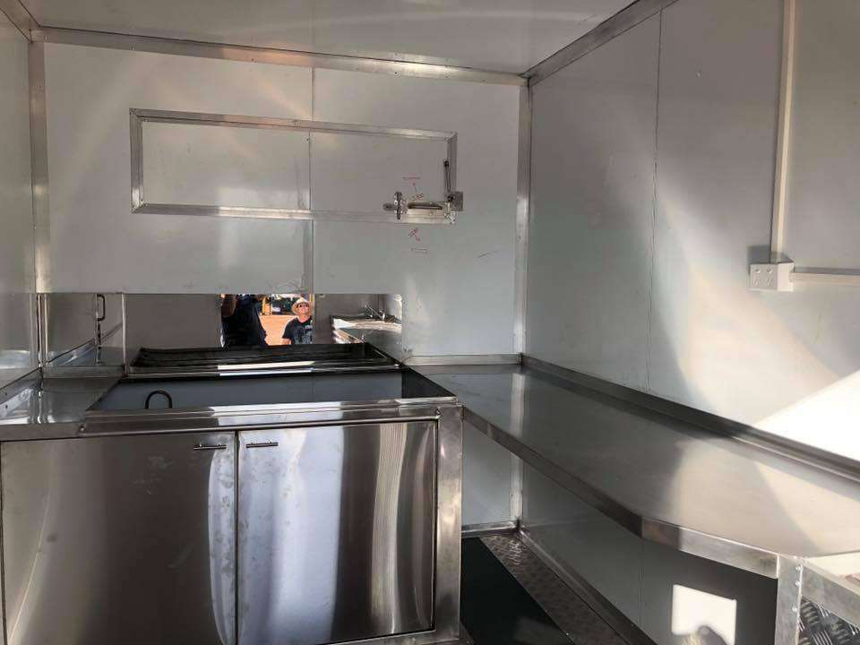 stainless steel food van fit out