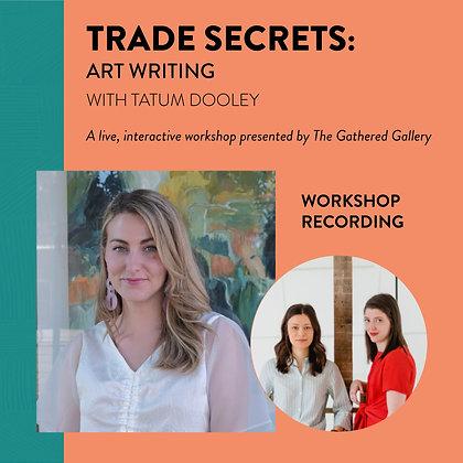 Arts Writing with Tatum Dooley