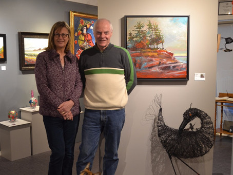 GALLERY VISIT: Guy and Sharon Cranston