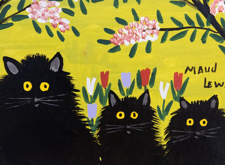 """COLLECTOR'S ITEM: """"Three Black Cats"""" by Maud Lewis"""