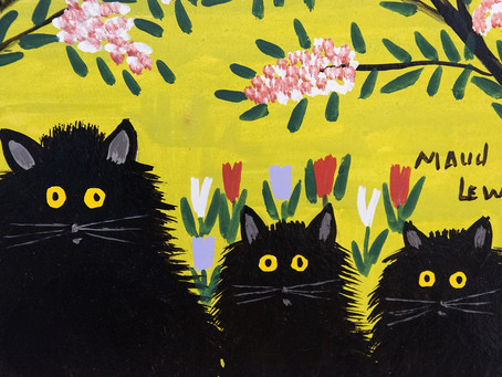 "COLLECTOR'S ITEM: ""Three Black Cats"" by Maud Lewis"