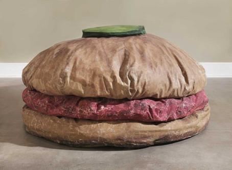 "COLLECTOR'S ITEM: ""Floor Burger"" by Claes Oldenburg"