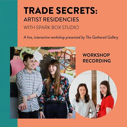 Artist Residencies with Spark Box Studio