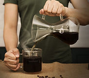 Pouring a great cup of coffee