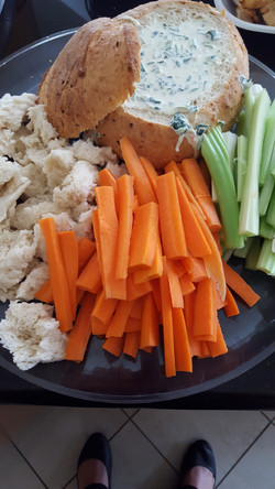 Spring Vegetable and Spinach Dip