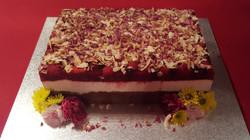 White Choc & Berry Cake