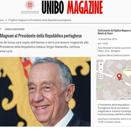 O Presidente de Portugal em visita a Bolonha: homenagem à Cátedra Eduardo Lourenço