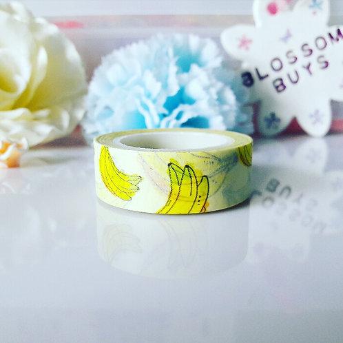 Banana Washi Tape - Watercolour