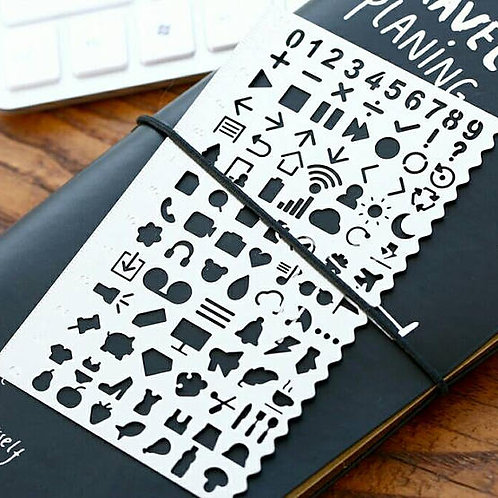 Planner Stencil- Icons