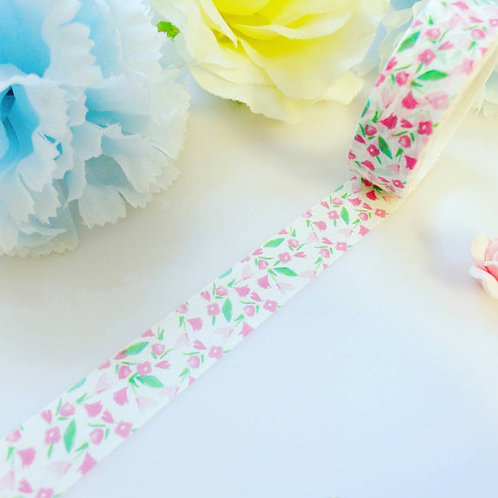 Pink and Green Floral Washi Tape