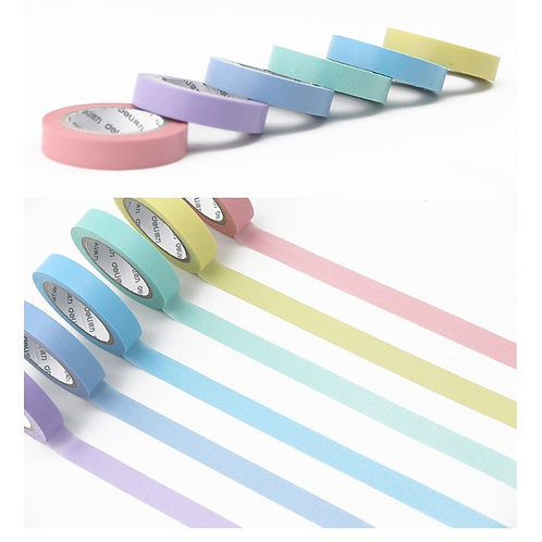 Rainbow Washi Tape Set- Slim 6