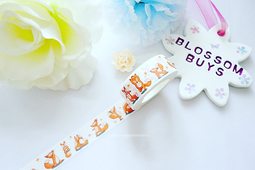 Cute Fox Washi Tape