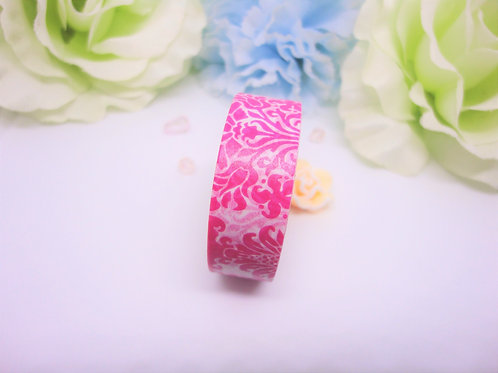 Hot Pink Damask Washi Tape