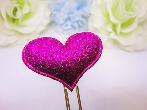 Glitter Heart Planner Clips