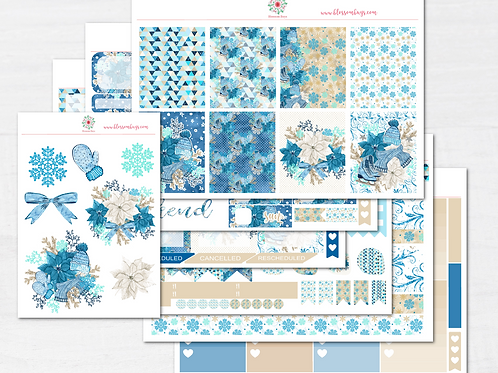 Hello Winter Sticker Kit - EC Weekly Kit