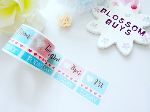 Perforated Days 'Today' Functional Washi Tape