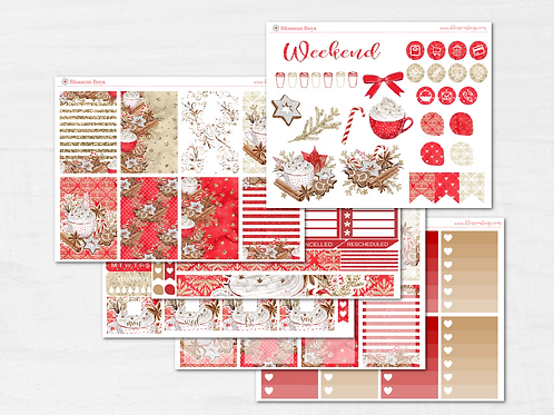 Gingerbread Cookies Sticker Kit - Classic HP Weekly Kit