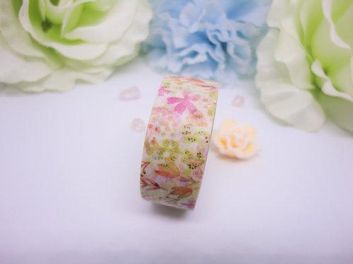 Pink Spring Flowers Washi Tape