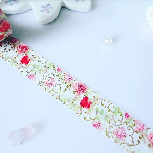 Roses Foil Washi Tape
