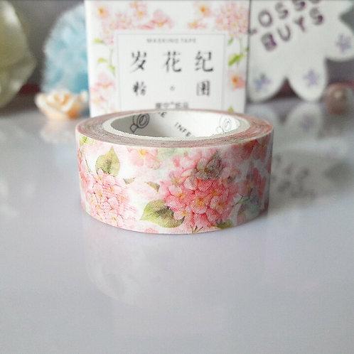 Pink Hydrangea Washi Tape