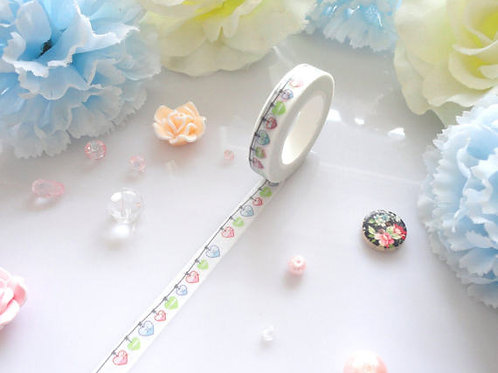 Hearts Bunting Washi Tape