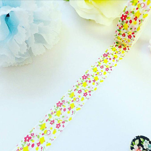 Pink Yellow Flowers Washi Tape