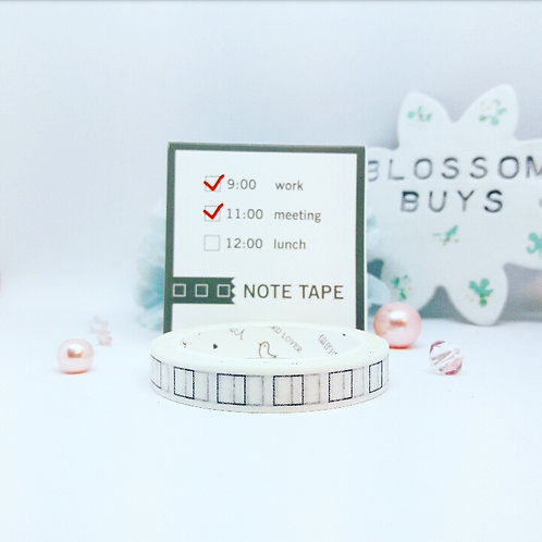 Tick Boxes Washi Tape - Slim