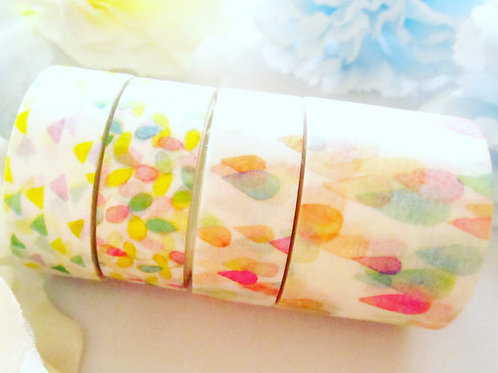 Spring Droplets Washi Tape Set