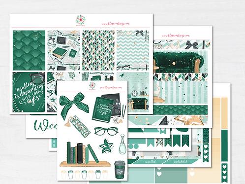 Cozy Bookworm Sticker Kit - EC Weekly Kit