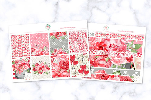 Floral Hearts Sticker Kit - EC Weekly Kit