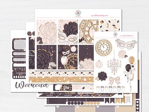 New Year Sparkles Sticker Kit - EC Weekly Kit