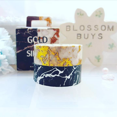 Gold Silver Marble Foil Washi Tape